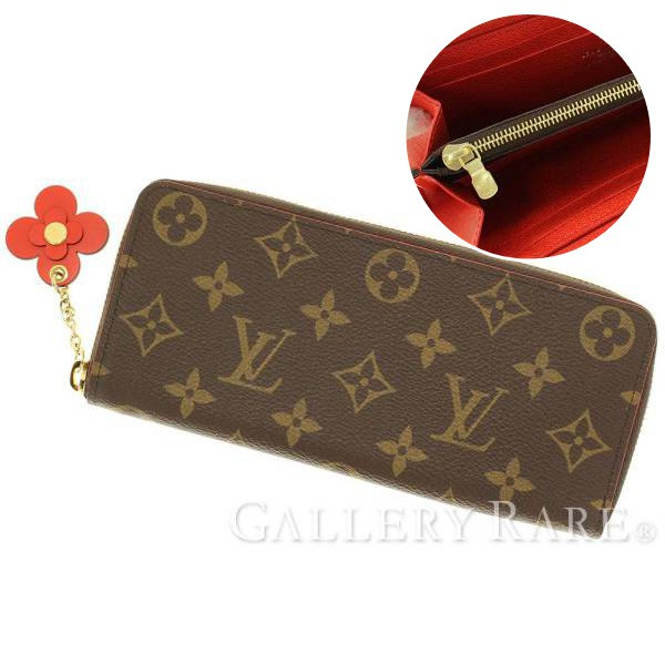 LOUIS VUITTON Monogram Portefeuille Clemence Monogram Flower Charm Wallet  M62940 897bb250e21