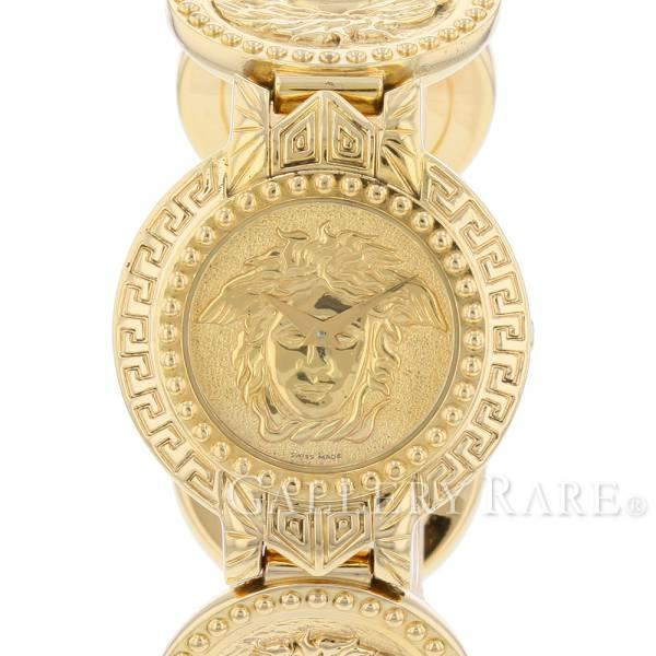 ヴェルサーチ メデューサ コインウォッチ K18YGイエローゴールド クォーツ レディース腕時計 ウォッチ 8008002 VERSACE 【安心保証】【中古】