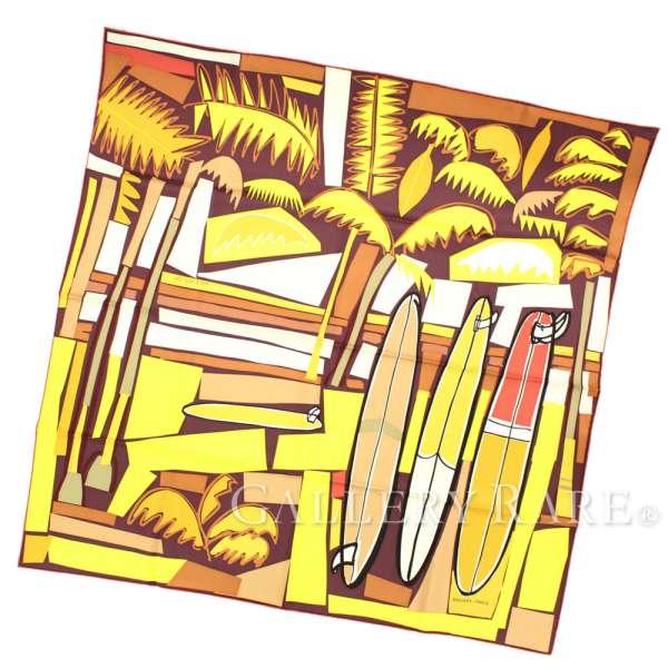 超人気 エルメス サーフィン スカーフ カレ90 海とサーフとファン Sea and Surf and Fun HERMES シルク HERMES 2018年春夏コレクション サーフィン ヤシの木 パームツリー, 天然石パワーストーン香港クイーン:11299ece --- blablagames.net