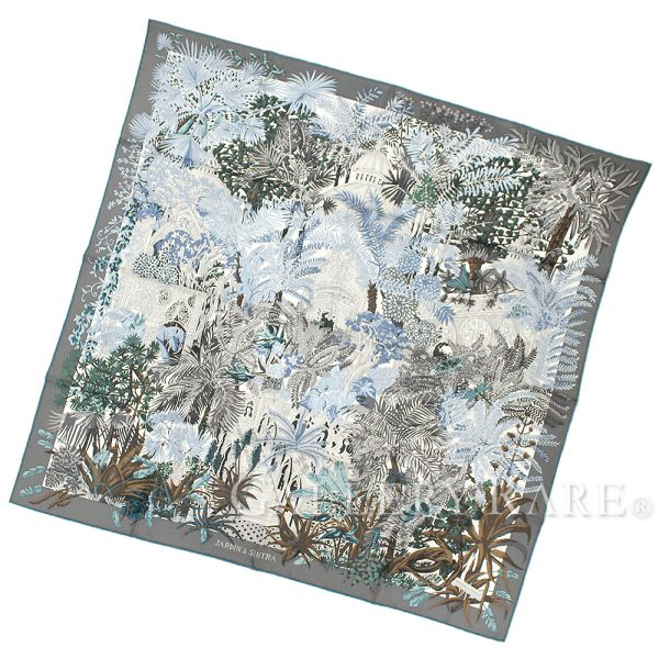 エルメス スカーフ カレ90 シンドラの庭 Jardin a Sintra シルク HERMES シルクスカーフ 2017年秋冬コレクション