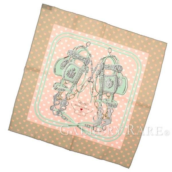 エルメス スカーフ カレ45 ブリッド・ドゥ・ガラ・ラヴ Brides de Gala Love シルク HERMES シルクスカーフ 2017年コレクション