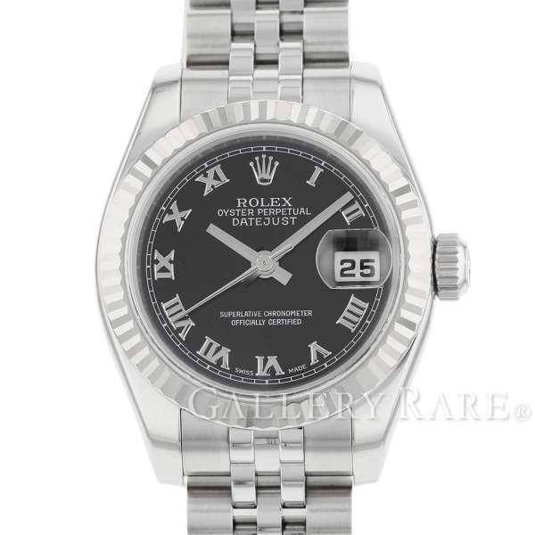 ロレックス デイトジャスト K18WGホワイトゴールド D番 179174 ROLEX 腕時計 レディース ローマ【安心保証】【中古】