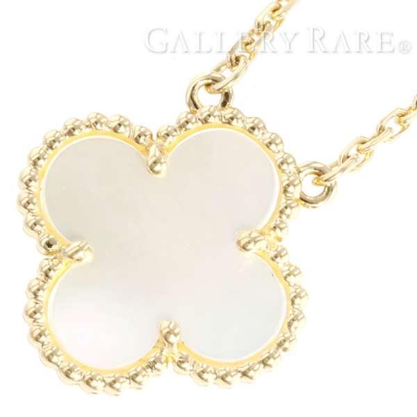 3814993511 Van Cleef   Arpels Vintage Alhambra Necklace K18YG Pearl VCARA45900 4847564