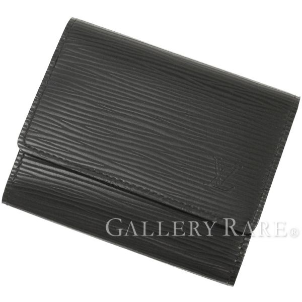 LOUIS VUITTON Enveloppe Cartes De Visite Noir Card Case M56582 Authentic 4851134