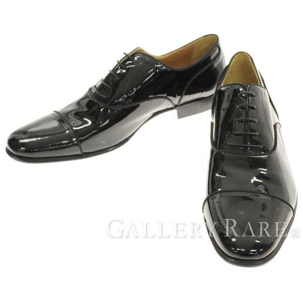 エルメス シューズ ビジネスシューズ ストレートチップ パテント ドレスシューズ メンズサイズ43 HERMES 靴【安心保証】【中古】