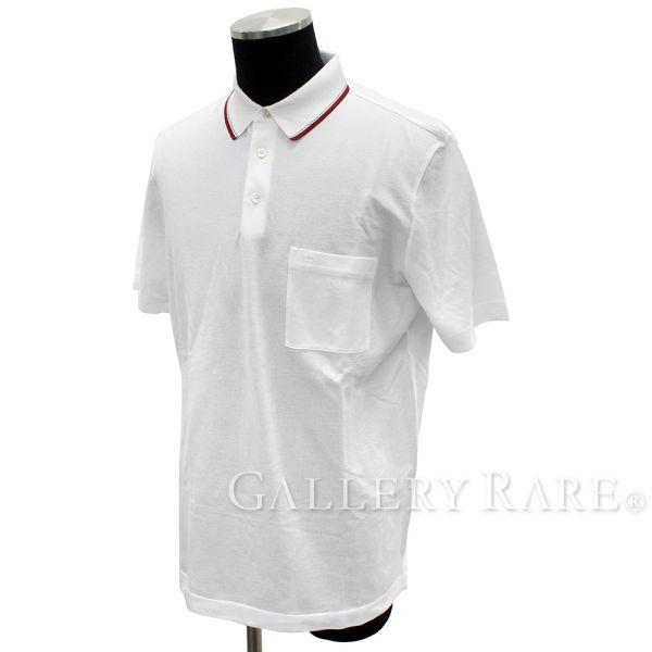 エルメス ポロシャツ Polo コットンピケ ホワイト コットン メンズサイズL HERMES シャツ 半袖【安心保証】【中古】