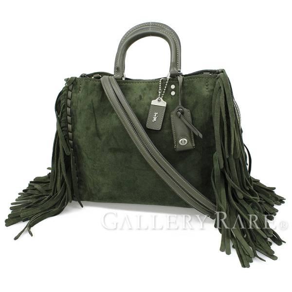 Coach Handbag Roeg Cervo Suede Cloth Fringe 86824 Bag 3way Shoulder 1941 Collection