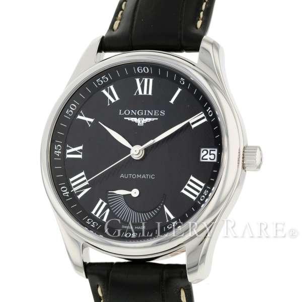 ロンジン マスターコレクション パワーリザーブ L2.666.4.51.7 LONGINES 腕時計 ウォッチ アリゲーターレザー【安心保証】【中古】