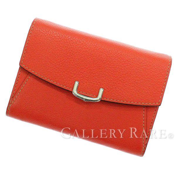 カルティエ 財布 C ドゥ カルティエ コンパクト ウォレット L3001527 Cartier 二つ折り財布【安心保証】【中古】