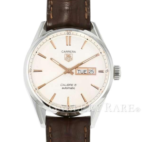 タグホイヤー カレラ キャリバー5 デイデイト シルバー文字盤 TAG Heuer WAR201D.FC6291 腕時計 ウォッチ