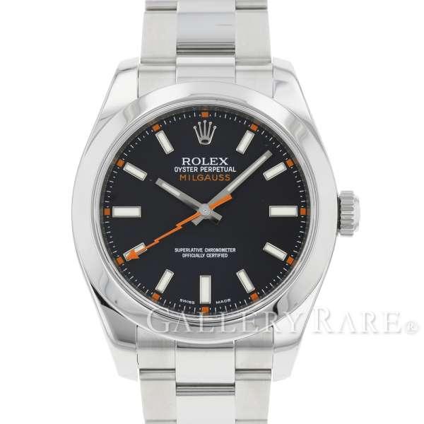 ロレックス ミルガウス ルーレット V番 116400 ROLEX 腕時計【安心保証】【中古】