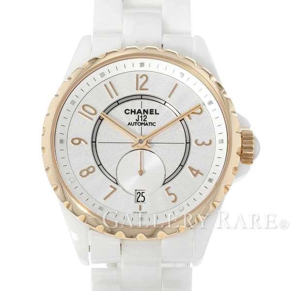 【新生活】シャネル J12 36.5mm ホワイトセラミック K18PGピンクゴールド H3839 CHANEL 腕時計【中古】