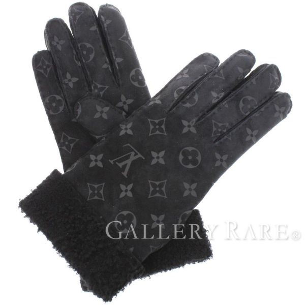 ルイヴィトン 手袋 モノグラム エクリプス ゴン・シャーリング ダーリン サイズ7.5 M71848 LOUIS VUITTON レディース シープスキン グローブ