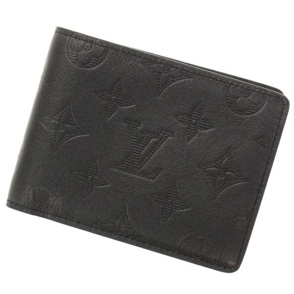 ルイヴィトン 財布 モノグラム・シャドウ ポルトフォイユ・ミュルティプル M62901 LOUIS VUITTON ヴィトン メンズ 札入れ 二つ折り財布