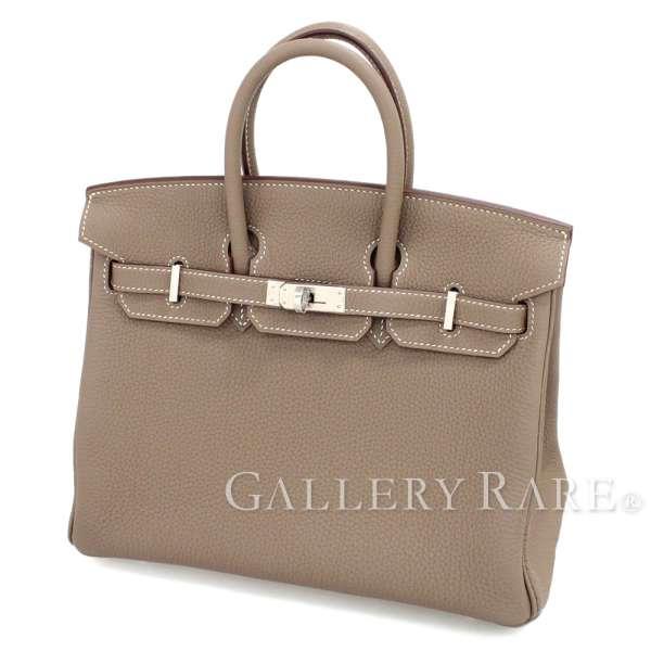 ff2688f08e Hermes Birkin 25cm ハンドバッグエトゥープ X silver metal fittings トゴ C carved seal  HERMES Birkin bag brown is gray
