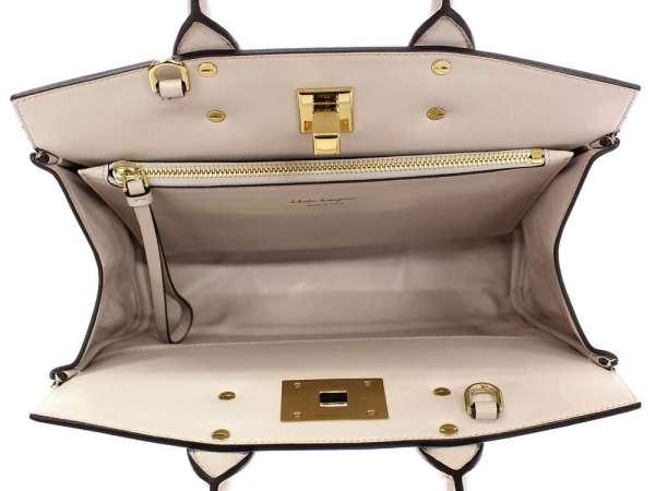 8518d248c2f Salvatore Ferragamo Studio Bag Calf Ivory Handbag E 21H159 Authentic 5061679