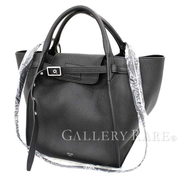 2c5227c8fb1d CELINE Big Bag Small 2way Handbag 183313 Long Strap Calf Black Authentic  5086832