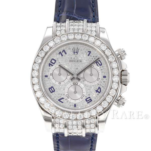 ロレックス コスモグラフ デイトナ ダイヤモンド K18WGホワイトゴールド M番 ルーレット 116599-RBR ROLEX 腕時計 ダイアモンド【安心保証】【中古】