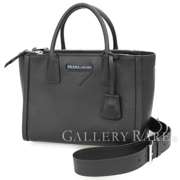 4c4a195c1300 PRADA Concept Bag Grace Lux Black 1BA175 Handbag Shoulder Bag Authentic  5101443