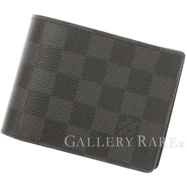3161a5818127 LOUIS VUITTON Multiple Wallet Damier Canvas Graphite N62663 Authentic  5103782