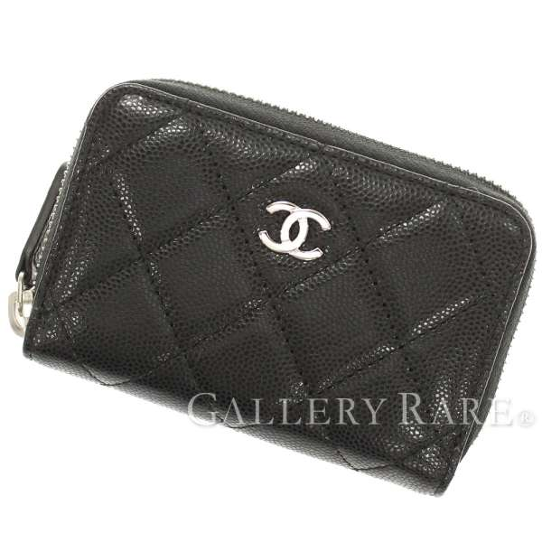 d1e51af0326d CHANEL Classic Card Case Caviar Leather Black A84511 CC Italy Authentic  5118175 ...