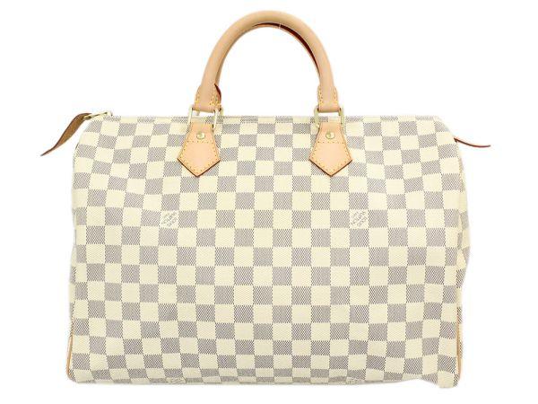 e20c67154e79 LOUIS VUITTON Speedy 35 Damier Canvas Azur Handbag N41369 Authentic 5143177