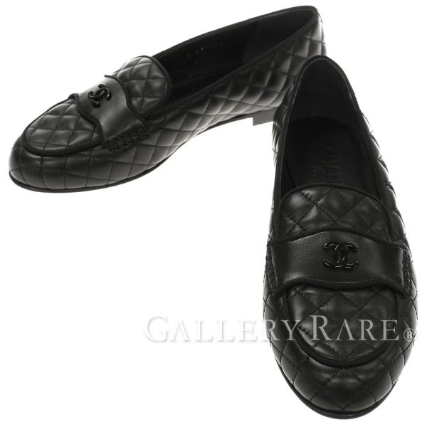 df4ed97bc45 Chanel loafer matelasse here mark lambskin Lady s size 38 G33861 CHANEL  shoes pumps