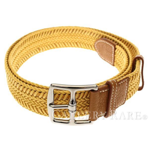 Belt 90cm CEINTURE MIXTE CASUAL バイユゴールドトリヨンクレマンス P carved seal HERMES which  includes Hermes belt mesh belt knitting 6a1e524c347