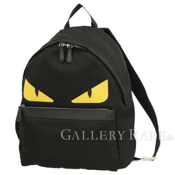 0b2af354e4b FENDI Monster BAG BUGS Nylon Leather Black 7VZ012 Backpack Authentic 5196135