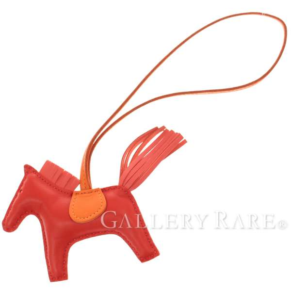 76d48a1aa022 HERMES Rodeo PM Anion Cotton Rouge Indian Bag Charm France Authentic 5198689