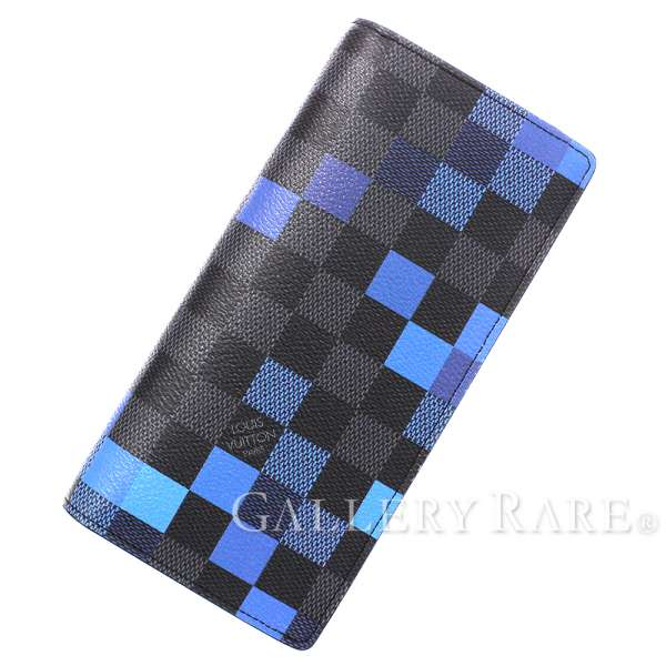 new products 0d419 1a89e ルイヴィトン 長財布 ダミエ・グラフィット ピクセル ポルトフォイユ・ブラザ N60162 LOUIS VUITTON ヴィトン メンズ  財布|ギャラリーレア楽天市場店