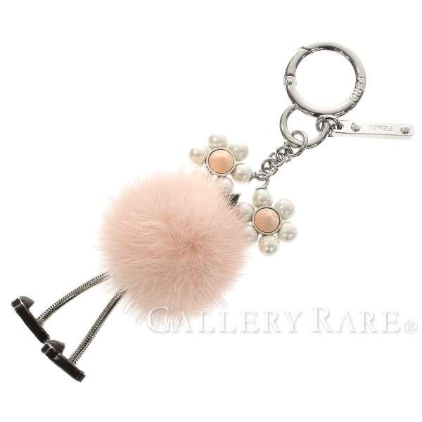 b358032c4a2e FENDI Chick Charm Monster Mink Fur Pink 7AR676 Bag Charm Authentic 5212538