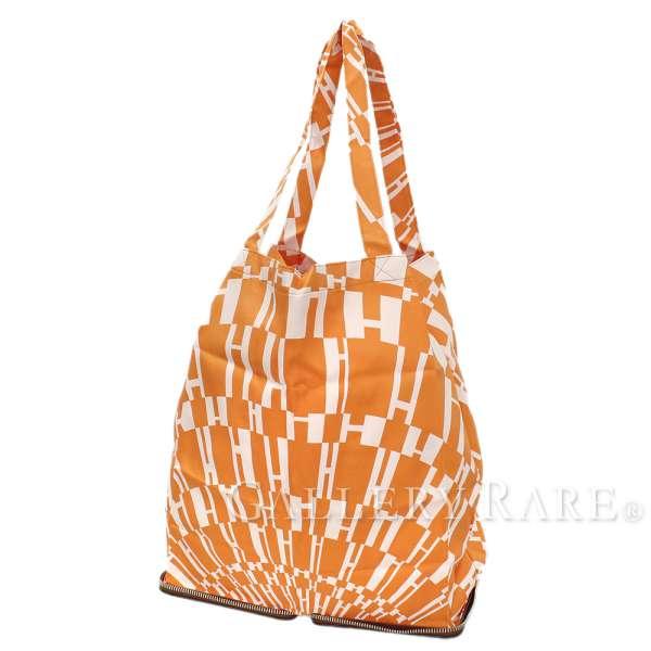47a4a7409667 HERMES Silky Pop Tote Bag Buffalo Skipper Silk Marron  L Authentic 5218349