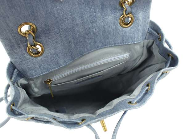 Chanel rucksack backpack matelasse here mark denim A91121 CHANEL rucksack  chain bag c28f8194050d7
