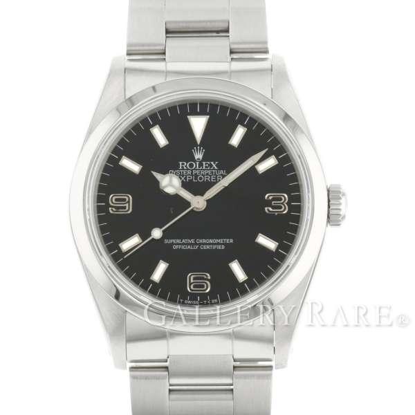 ロレックス エクスプローラー1 E番 14270 ROLEX 腕時計 ブラックアウト シルバーレター【安心保証】【中古】