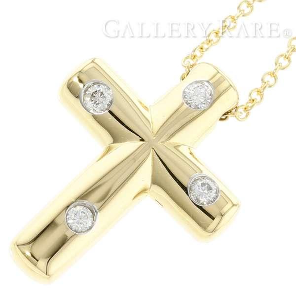 0f7a9174c Tiffany & Co. Dots Cross Pendant 18K Yellow Gold Diamond Necklace 5207114  ...