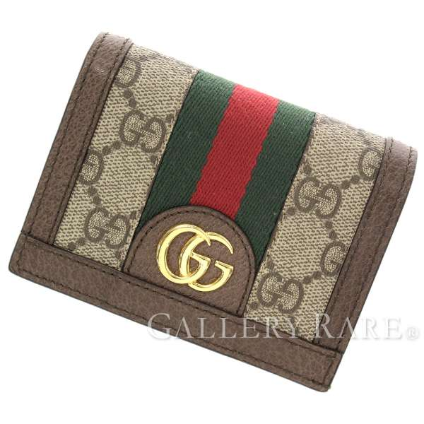 96b56df9983c GUCCI Ophidia Web GG Supreme Leather Beige Wallet 523155 Italy Authentic  5244287