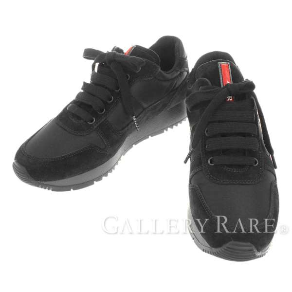 badb158a03f46 PRADA Sports Line Nylon Suede Black Sneakers 3E5939 #35 1/2 Authentic  5243433 ...