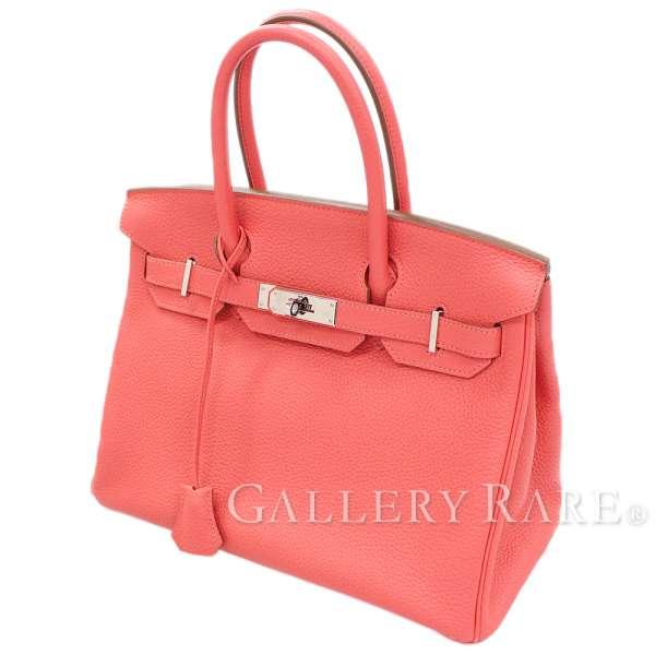 527e31fef1b1 Hermes Birkin 30cm handbag Rose Jaipur X silver metal fittings トゴ R carved  seal HERMES Birkin bag