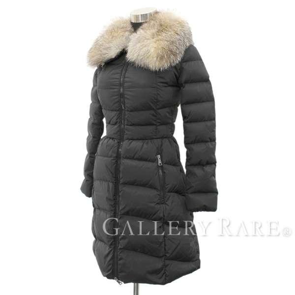 407f54e35 MONCLER Hirondelle Nylon Fox Fur Black Down Jacket Size 00 Authentic 5270538