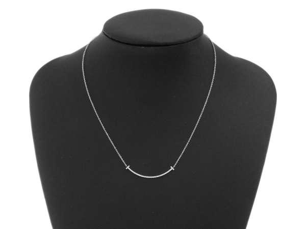 912d16e3f546a Gallery Rare  Tiffany   Co. T Smile Pendant Mini Diamond 18K White ...