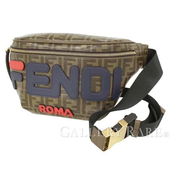 8f7107fbb9e35f FENDI Belt Bag Cotton Brown Mens Waist Pouch FILA 8BM006 Italy Authentic  5287741 ...