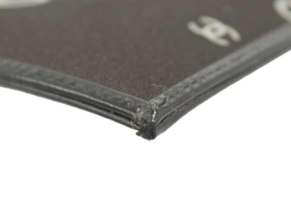 7586cbf721f ... CHANEL Clutch Bag COCO Print Canvas Black Chain Bag CC Logo Authentic  5323982 ...