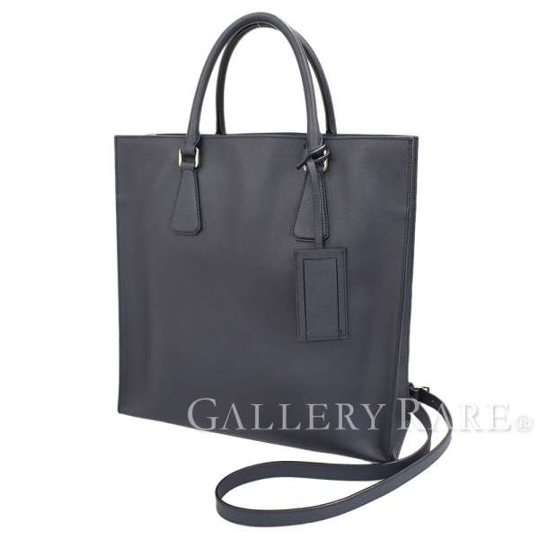 a51ed342e04b PRADA 2way Tote Bag Saffiano Dark Blue VA1016 Shoulder Bag Authentic  5334025 ...