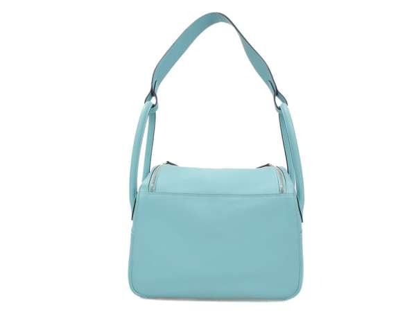 e769f409fe06 HERMES Lindy 26 Veau Evercolor Blue Atoll  T Handbag France Authentic  5363278