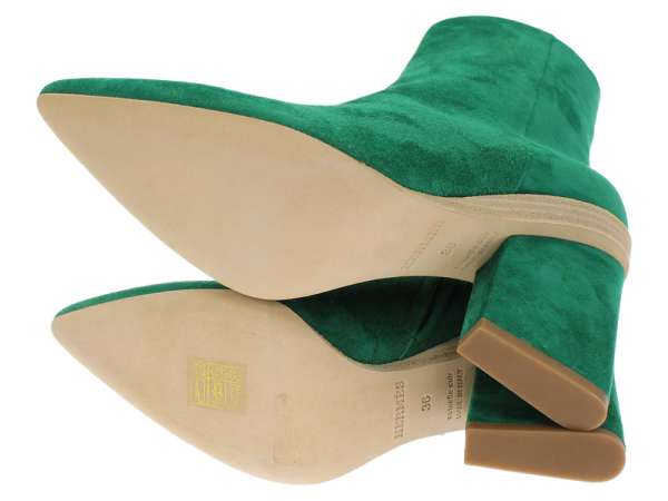 retail prices 2761a b1e62 Hermes ankle boots side zip suede pointed toe Lady's size 36 HERMES NEO  shoes green 2018 other in the fall and winter