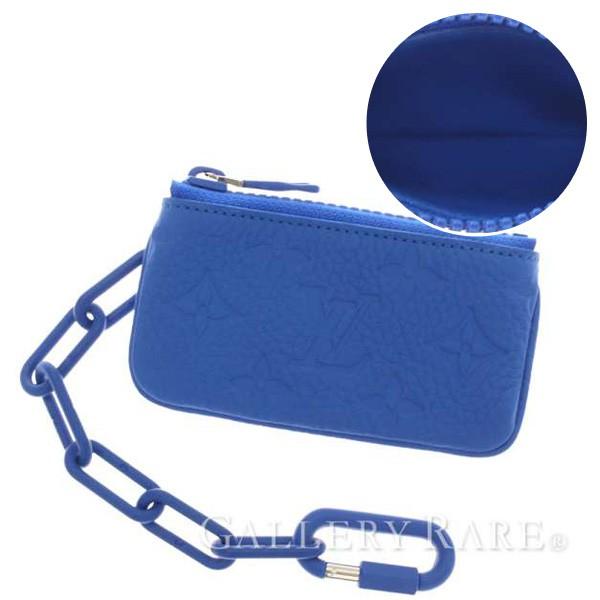 ルイヴィトン コインケース モノグラム レザー ポシェット・クレ M67475 ブルー トリヨン LOUIS VUITTON ヴィトン 小銭入れ メンズ 青