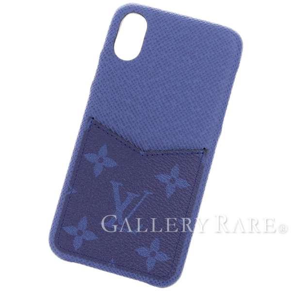 huge selection of 2422b c3e0b Ai Louis Vuitton phone case taiga monogram IPHONE, bumper XS MAX M30273  LOUIS VUITTON tone on tone blue