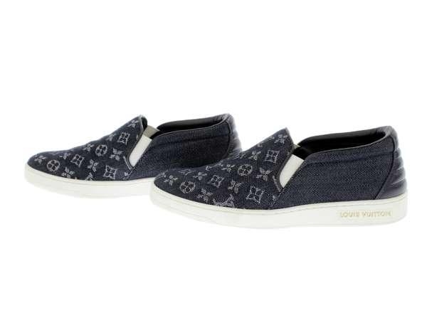 fbf47c83dea6c ... Louis Vuitton slip-ons monogram denim Lady's size 36 LOUIS VUITTON  Vuitton shoes monogram ...