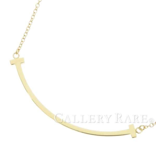 b945828c35e08 Tiffany necklace T smile pendant mini-K18YG yellow gold Tiffany&Co. Jewelry